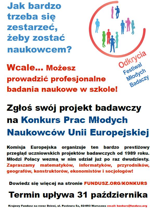 EUCYS 2014 - polakie eliminacje - plakat