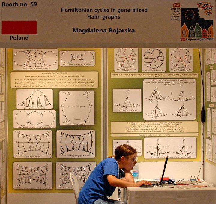 Młoda matematyczka Magda Bojarska