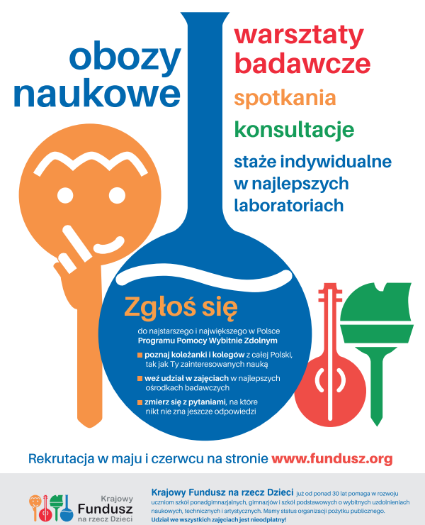 plakat KFnrD - rekrutacja stypendystów