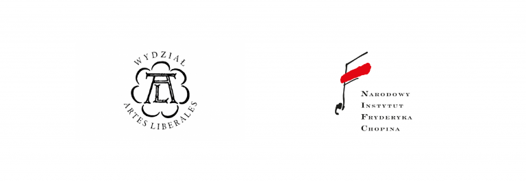 Logo: Wydział Artes Liberales i Narodowy Instytut Fryderyka Chopina
