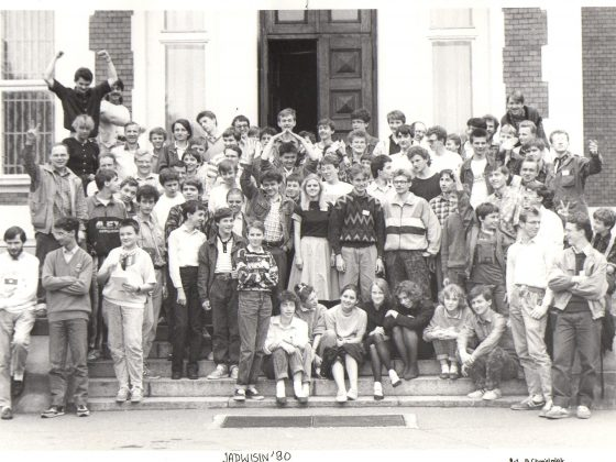 Uczestnicy obozu w Jadwisinie 1990