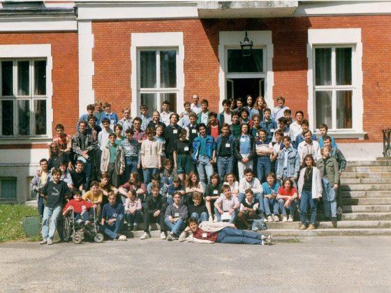 uczestnicy obozu w Jadwisinie, 1992