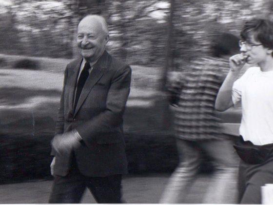 Witold Lutosławski podczas obozu w Jadwisinie, 1994